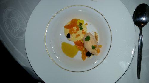 Amandel semifredo met sinaasappel