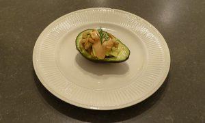 Avocado met garnalencocktail